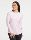 Solbari Sun Protection Women's UPF50+ Long Sleeve Swing Top in Light Pink Sensitive Collection