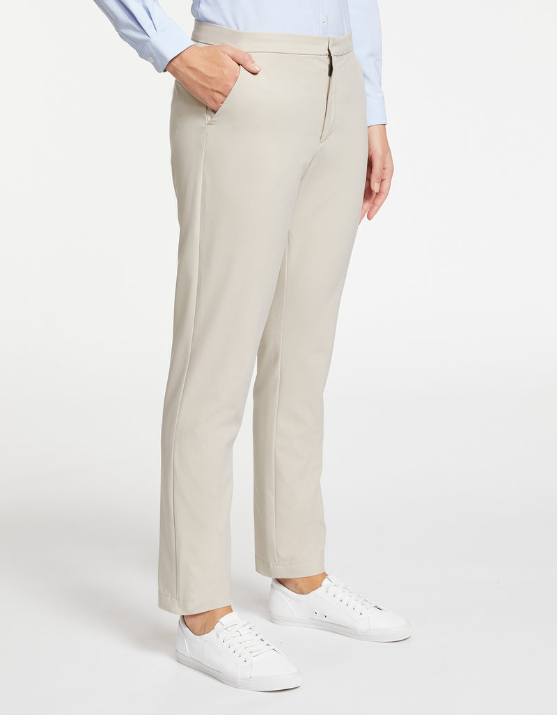 Solbari Sun Protection Women UPF50+ Trousers in Beige Dry Stretch Collection