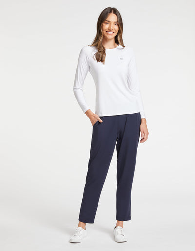 Solbari Sun Protection Women UPF50+ Weekend Pants in Navy Luxe Modal Collection