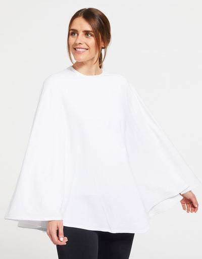 Solbari Sun Protection Women's UPF50+ Protective Poncho in White Sensitive Collection