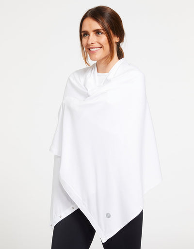 Solbari Sun Protection Women's UPF50+ Sun Shawl in White Sensitive Collection