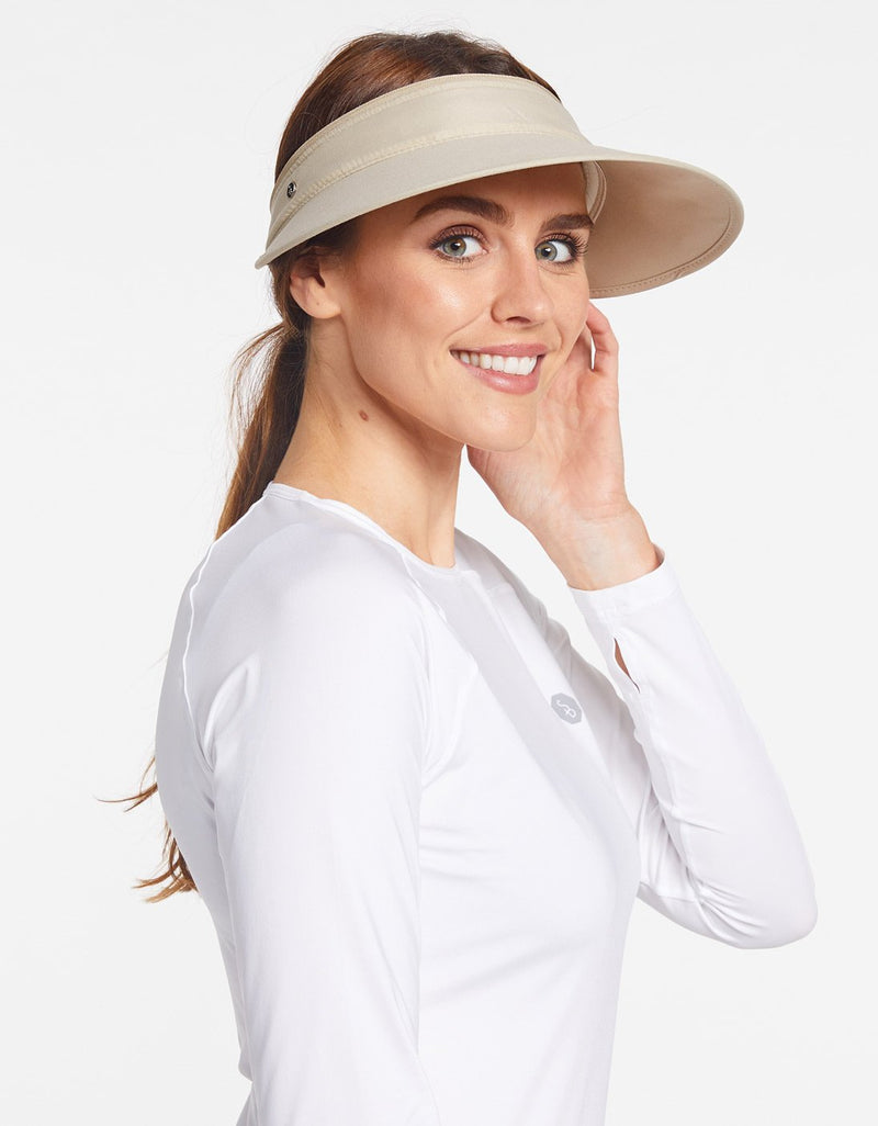 Solbari Sun Protection UPF50+ Women's Wanderlust Convertible Visor in Beige