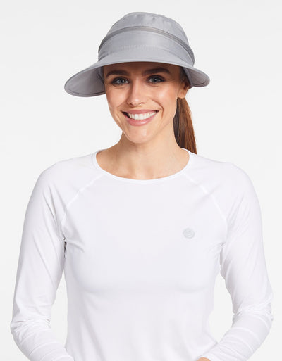 Solbari Sun Protection UPF50+ Women's Wanderlust Convertible Visor in Silver