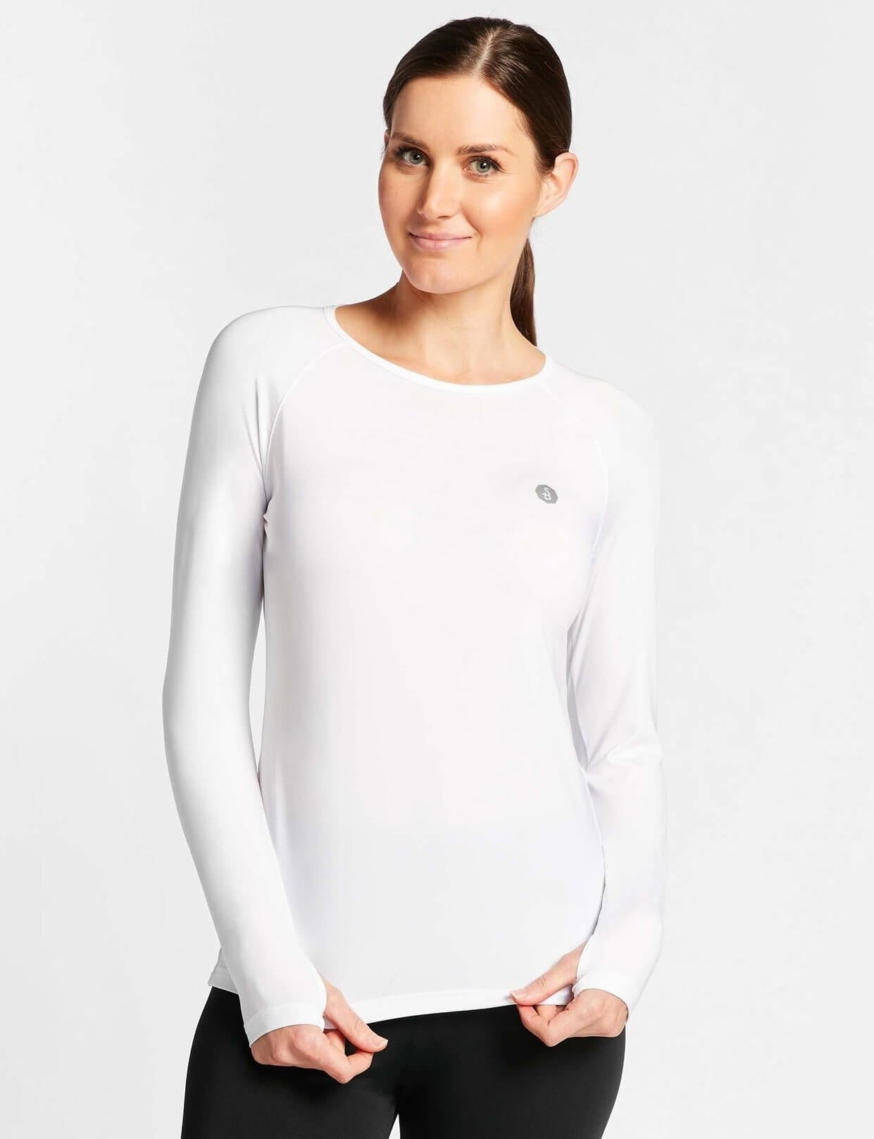 Solbari UPF 50+ Sun Protection White Base Layer for Women