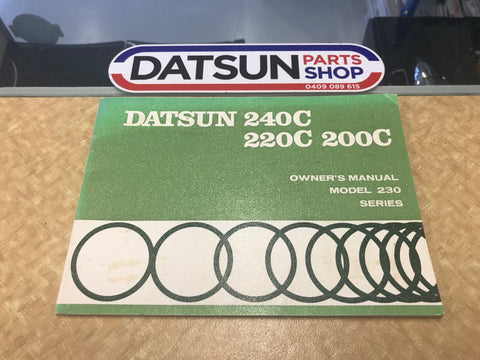 Datsun 230 Series Owners Manual Used