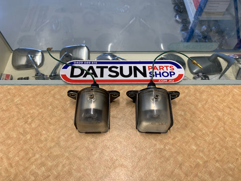 Datsun 1200 Ute Number Plate Light Pair Used Genuine Nissan Parts B120