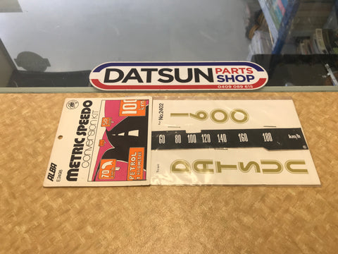 Early Datsun 1600 Metric Speedo Conversion Kit Decal