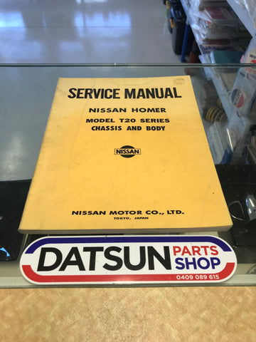Nissan Homer T20 Service Manual Used