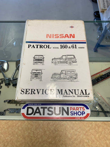 Patrol 160 & 61 Service Manual Used Nissan Datsun
