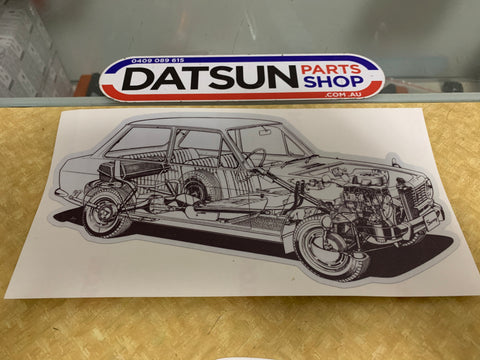 Datsun 1000 B10 Cut Away Sticker