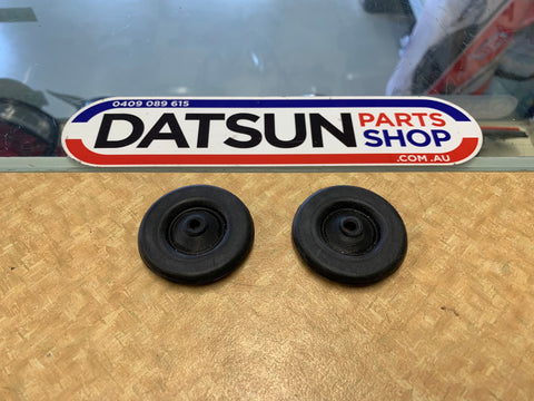 Datsun 120Y Engine Bay Brake Line Bung Pair New Genuine Parts