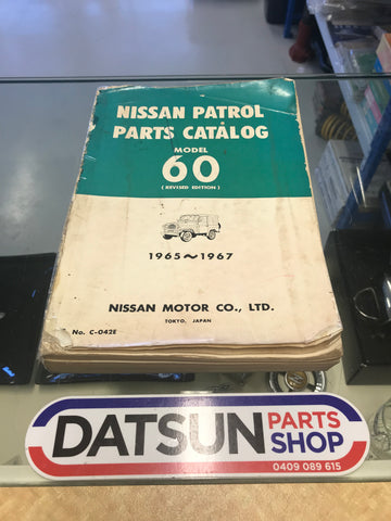 Nissan G60 Patrol Parts Book Used