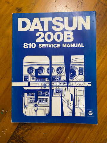 Datsun 200B 810 Service Manual Used Genuine
