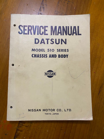 Datsun 1600 Service Manual 510 Used Genuine Nissan