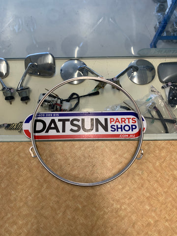 Datsun 1200 Head Light Chrome Retainer Ring Used
