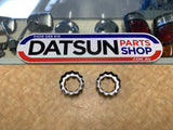Datsun B310 Sunny Stub Axel Nut Retainer Pair New Genuine