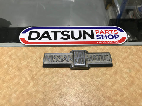 Nissan Full Automatic Badge Used Datsun