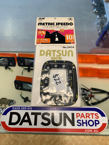 Datsun 180B 610 Speedo Metric conversion decal