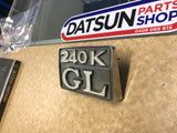 Datsun 240K C110 Grill Badge Used