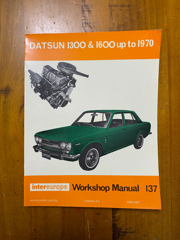 Datsun 1300 & 1600 510 Workshop Manual Intereurope Used