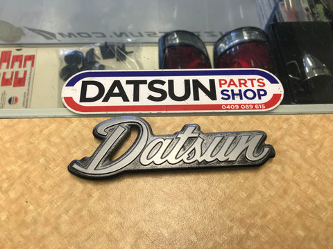 Datsun 240K C110 1/4 Panel Badge Used