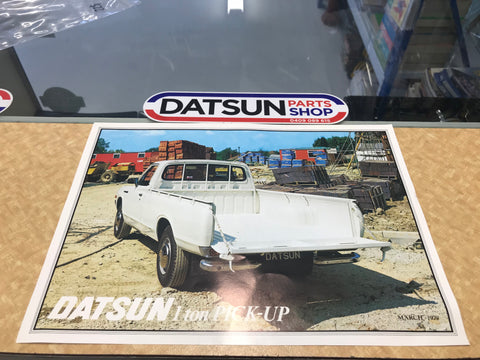 Datsun 620 1 ton Pick-up UK Sales Leaflet