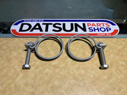 Datsun 1000 Radiator Hose Clamp Pair New Genuine Part