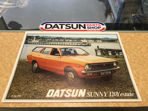 Datsun 120Y Estate Wagon Uk Sale Leaflet