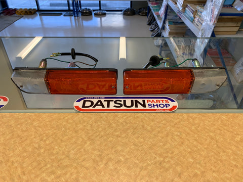Datsun 1200 Front Combo Light Pair Genuine New Old Stock