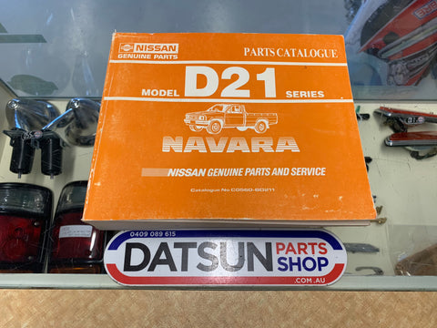 Nissan D21 Navara Parts Catalogue Book Genuine Used