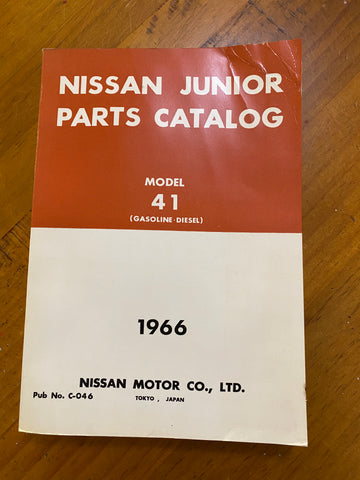 Nissan Junior 41 Parts Catalog Used Genuine