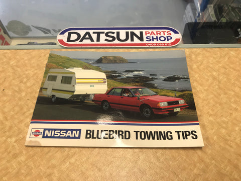 Datsun 910 Bluebird Towing Tips Booklet Used