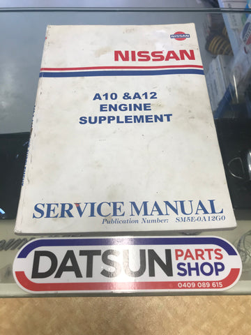 Nissan Datsun a10 & a12 Service Manual Used