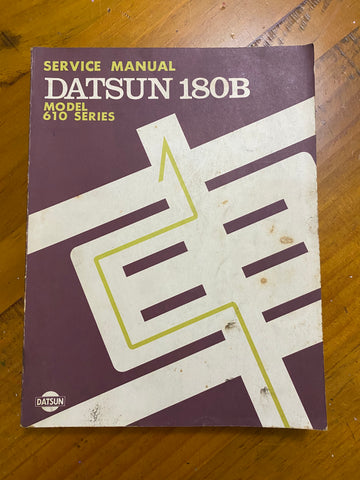 Datsun 180B Service Manual 610 Used Nissan Japan