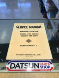 Datsun 620 Service Manual Sup. 1500 Used