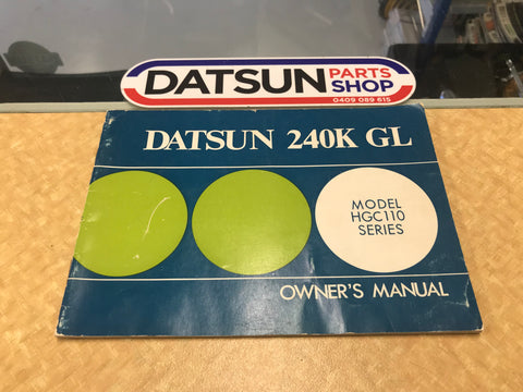 Datsun 240K C110 Series Owners Manual Used