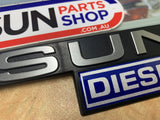 Datsun Diesel Guard Badge to Suit Datsun 720 Genuine New Old Stock
