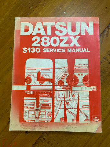 Datsun 280ZX S130 Service Manual Nissan Used Genuine
