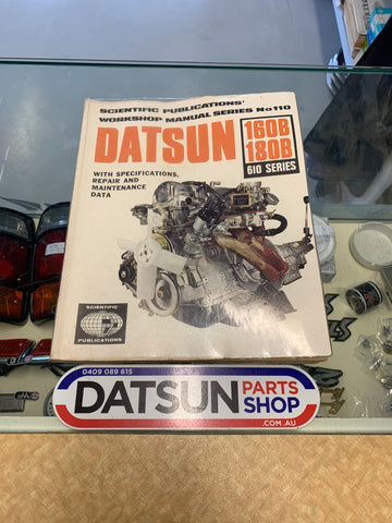 Datsun 180B 610 Workshop Manual Scientific Publications Used