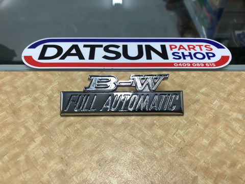 Datsun B-W Full Automatic Badge Used