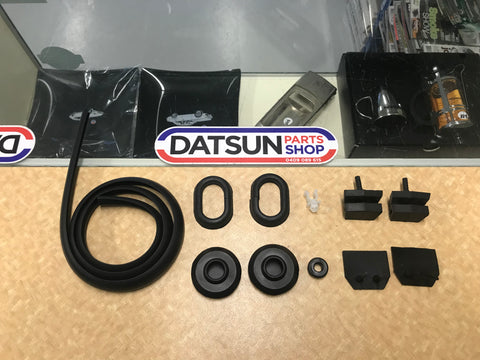 Datsun 1200 Engine Bay Rubber Pack New Genuine