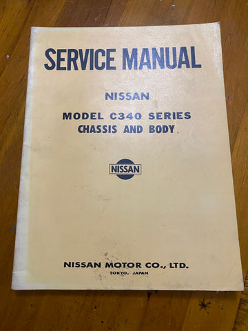 Caball C340 Service Manual Used Genuine Nissan Datsun