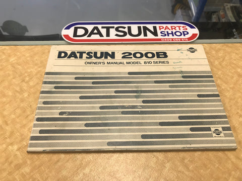 Datsun 200B 810 Series Owners Manual Used