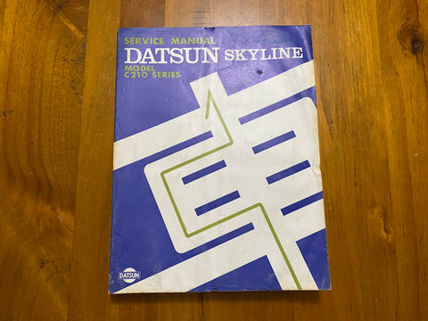 Nissan Datsun Skyline C210 Service Manual Used