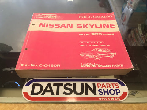 Nissan Skyline R30 Parts Book