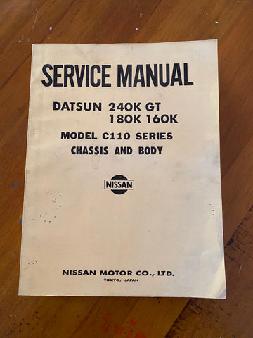 Datsun Skyline C110 240K Service Manual Chassis and Body