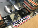 Datsun Bluebird 410 411 Fender Mirror Pair NOS