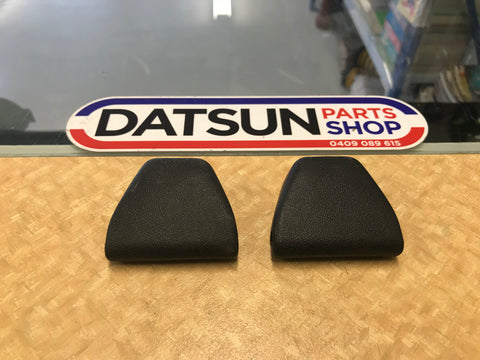 Datsun 1200 B120 Ute Top Seat Belt Bolt Cover Pair Used