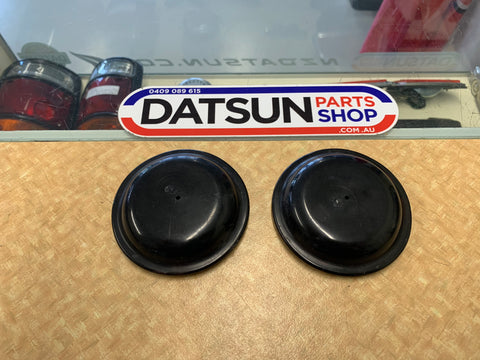 Datsun 120Y B210 Strut Top Plastic Cover Pair Used