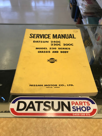 Datsun 240C 230 Service Manual Used